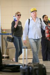 Kirsten Dunst With Jesse Plemons at LAX Airport in Los Angeles 3/24/ 2017
