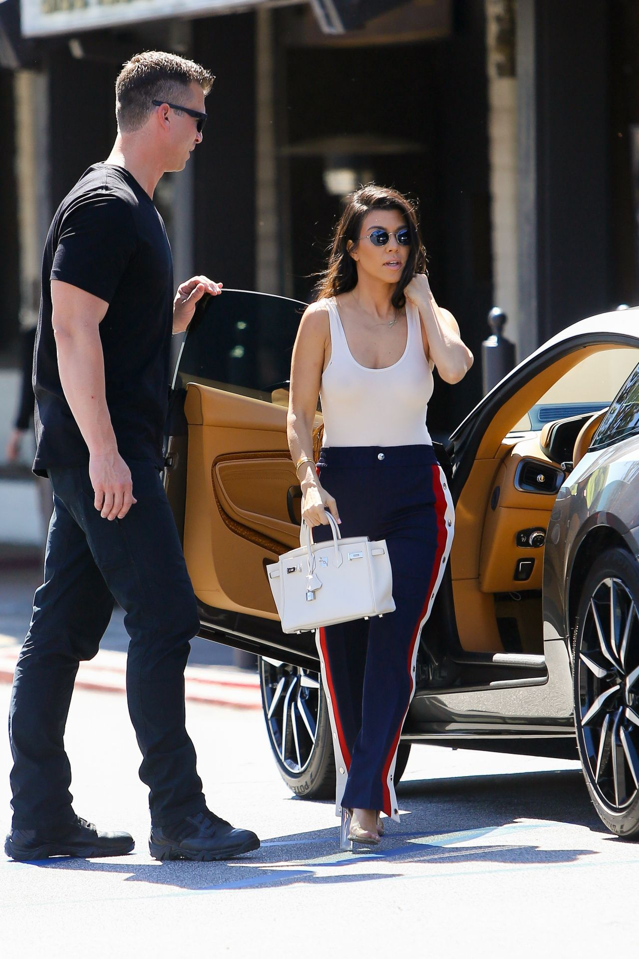 Kourtney Kardashian And Her Gunmetal Grey Aston Martin Out In La 3