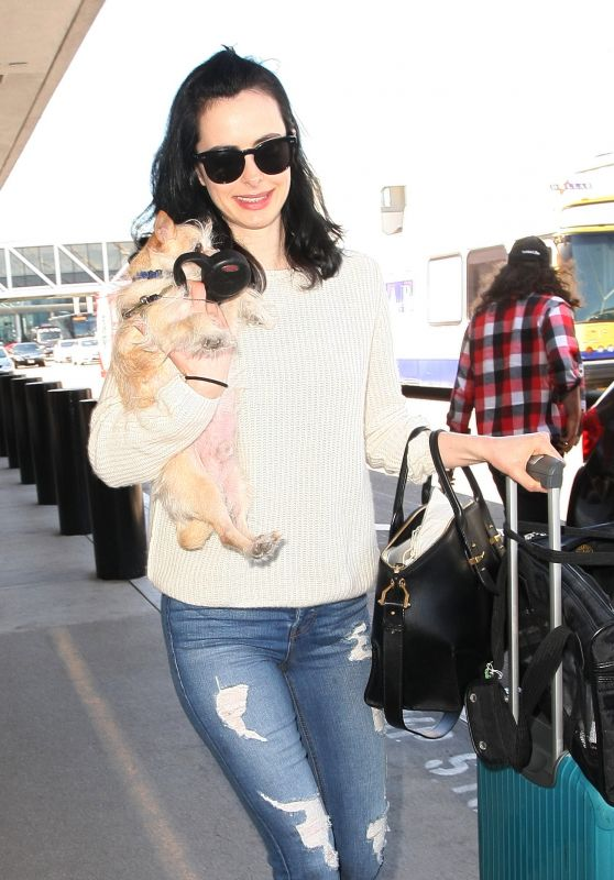 Krysten Ritter - Jets Out of LAX in Los Angeles 3/29/2017