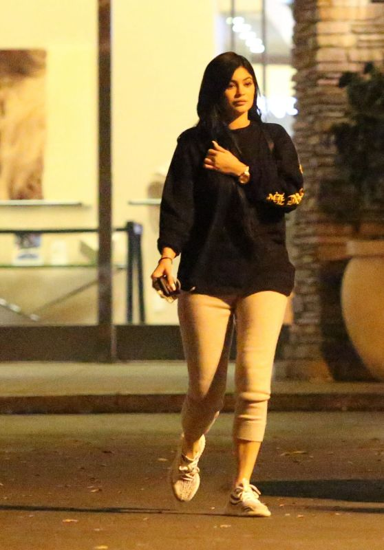 Kylie Jenner Casual Style - Out in Calabasas 3/13/ 2017