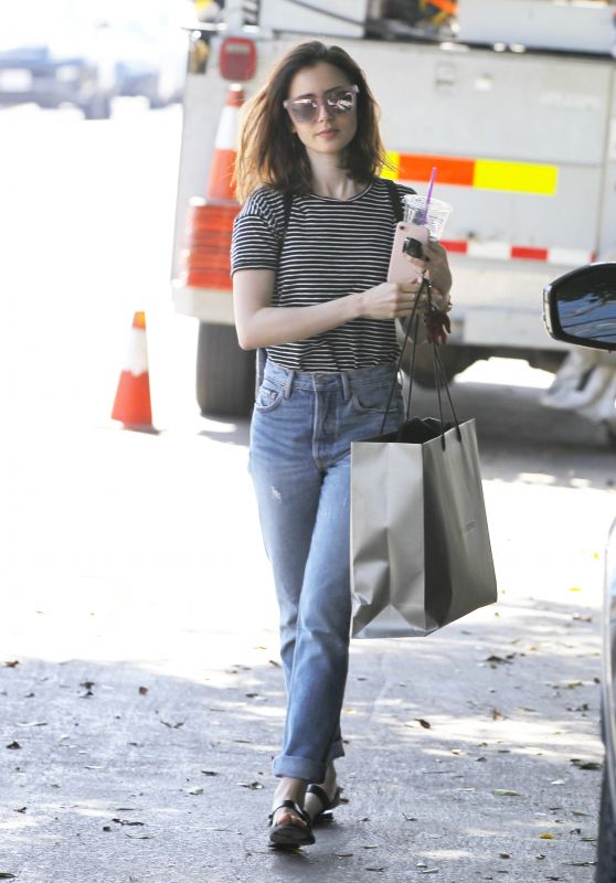 Lily Collins - Grabs a Morning Coffee From Coffee Bean in West Hollywood 3/14/ 2017