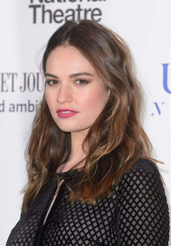 Lily James - National Theatre Gala in London 3/7/ 2017