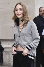 Lily-Rose Depp Arriving to the Chanel Fashion Show in Paris 3/7/ 2017