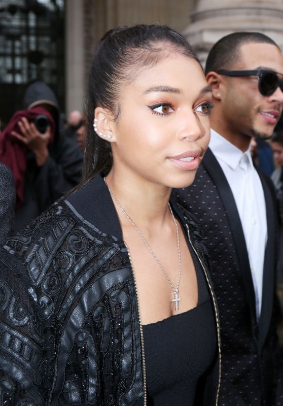 Lori Harvey – Arriving at the Elie Saab Fashion Show at Paris Fashion Week 3/4/ 2017