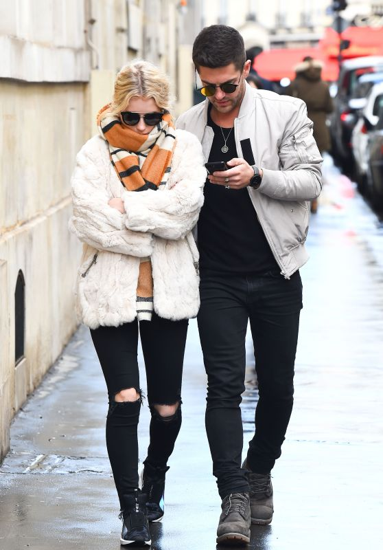 Lottie Moss With Boyfriend Alex Mytton in Paris, France 3/5/ 2017