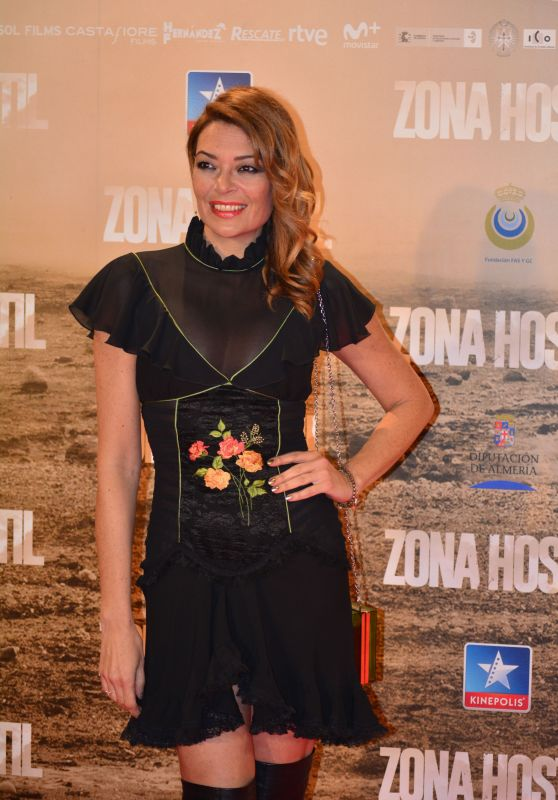 Lucia Hoyos – 'Zona Hostil' Premiere in Madrid 3/9/ 2017