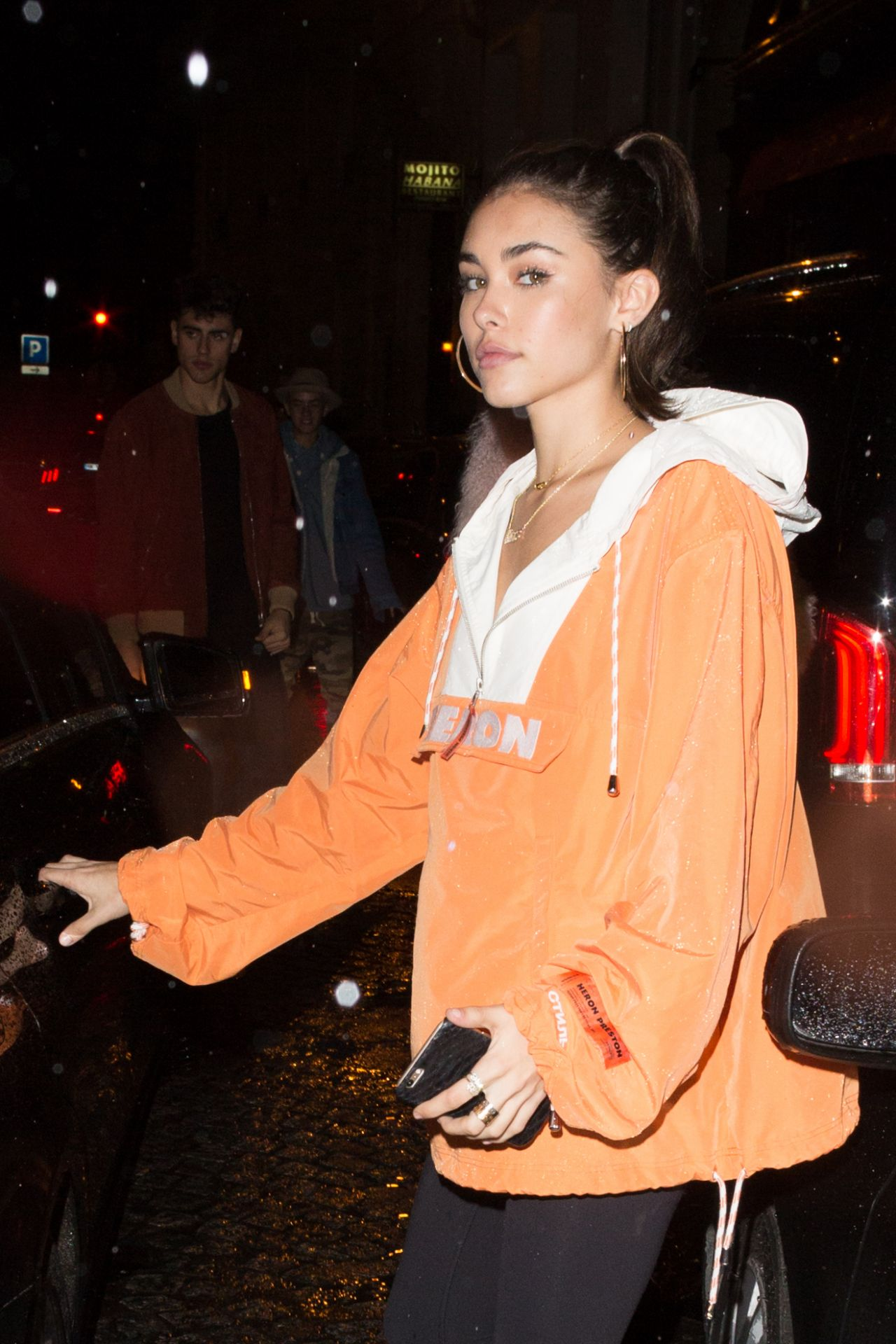 madison beer night out paris france 3 7 2017. Black Bedroom Furniture Sets. Home Design Ideas