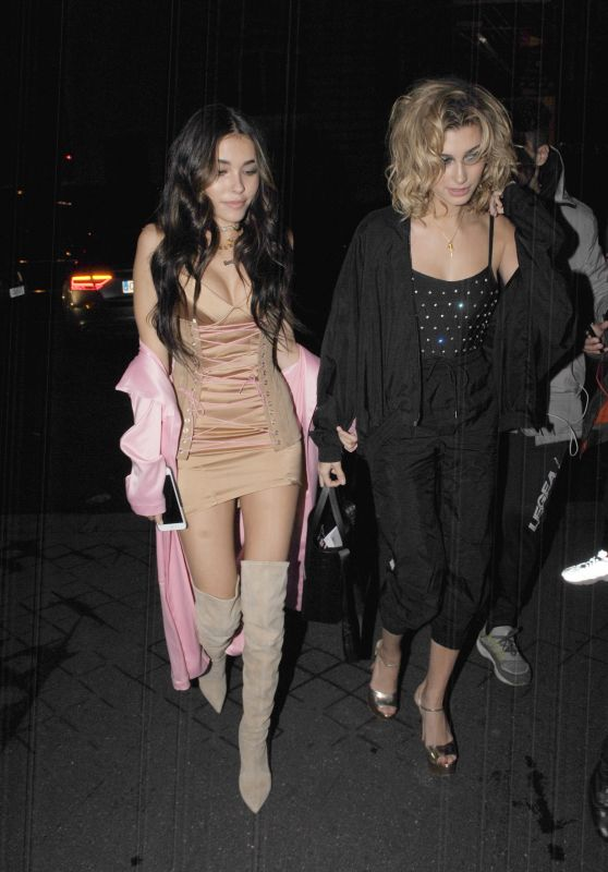 Madison Beer Night Out With Hailey Baldwin in Paris 3/4/ 2017
