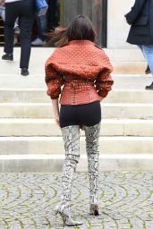 Madison Beer - Poses for the Photographers Outside the Balmain Show in Paris 3/2/ 2017