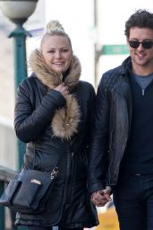 Malin Akerman and Boyfriend Jack Donnelly - NYC 3/17/ 2017