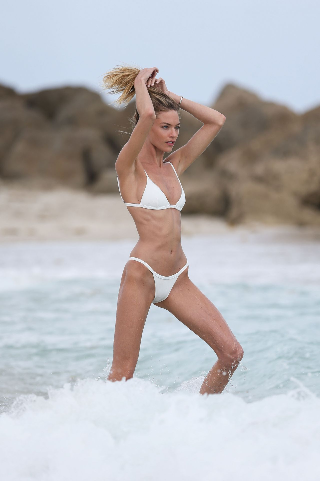 Martha Hunt In White Bikini On Miami Beach 325 2017-1233