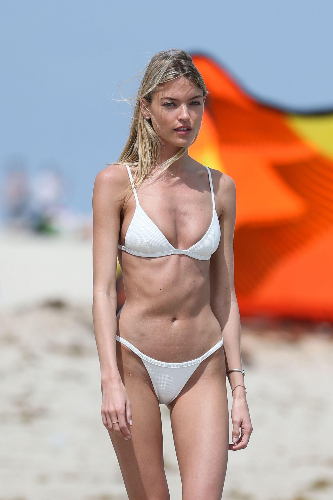 Martha Hunt In White Bikini On Miami Beach 3 25 2017