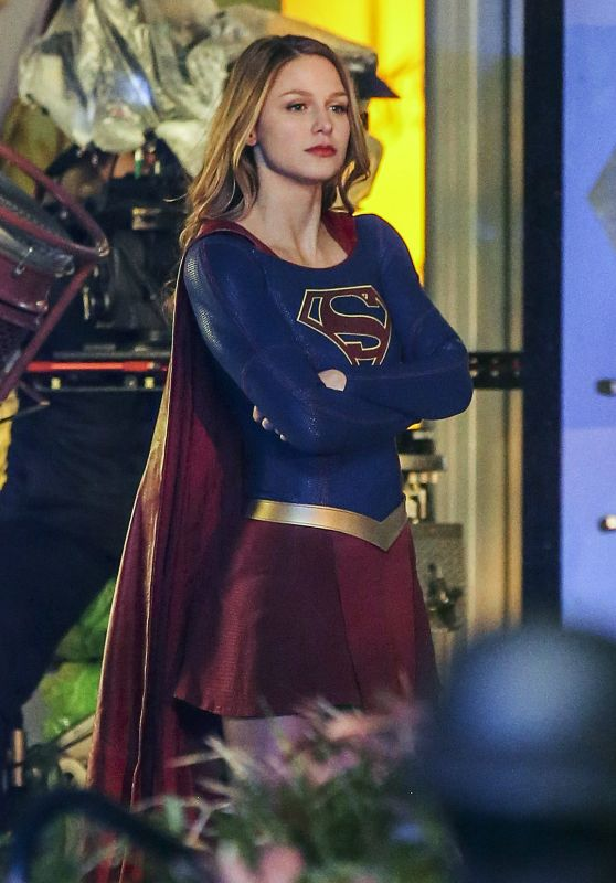Melissa Benoist - On the Set of