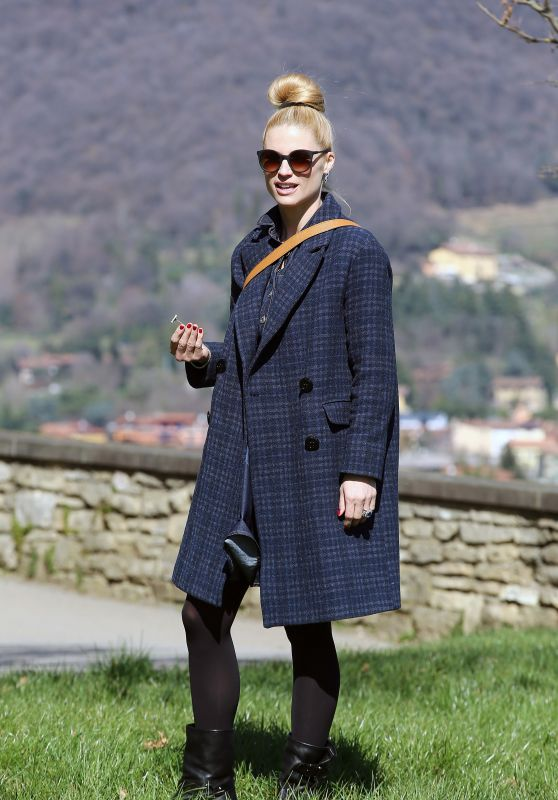 Michelle Hunziker at the Park in Bergamo, Italy 3/11/ 2017