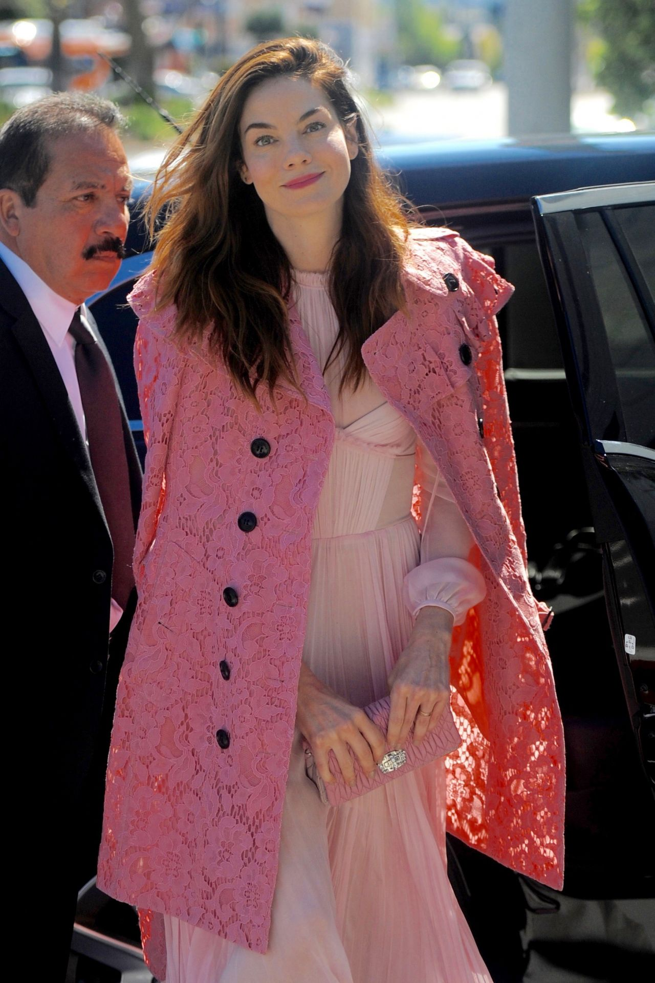Michelle Monaghan Pretty in Pink - Arrives for an NBC Special Event in West Hollywood 3/6/ 2017