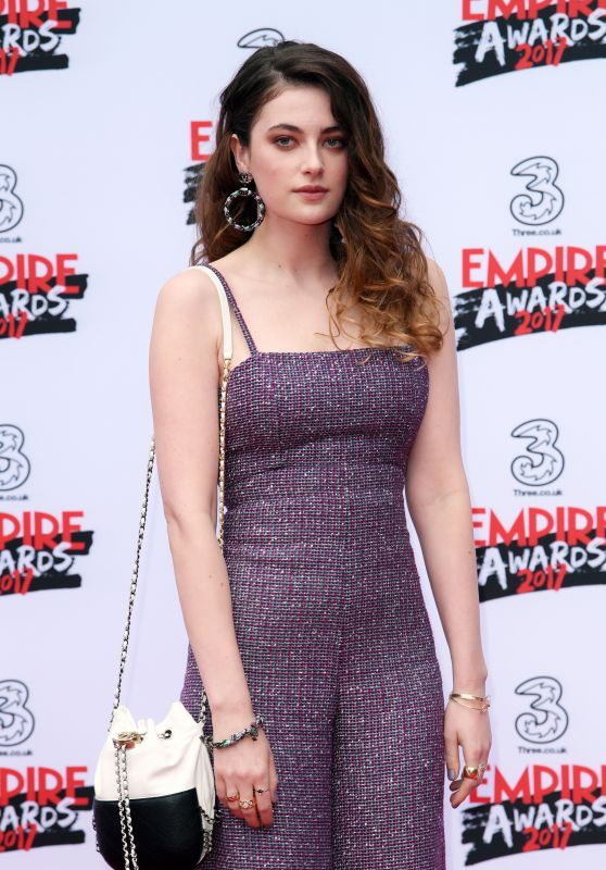 Millie Brady on Red Carpet - Three Empire Awards in London 3/19/ 2017