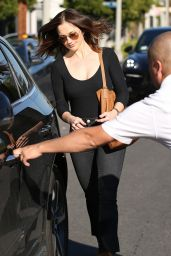 Minka Kelly at Nine Zero One Hair Salon in West Hollywood 3/1/ 2017
