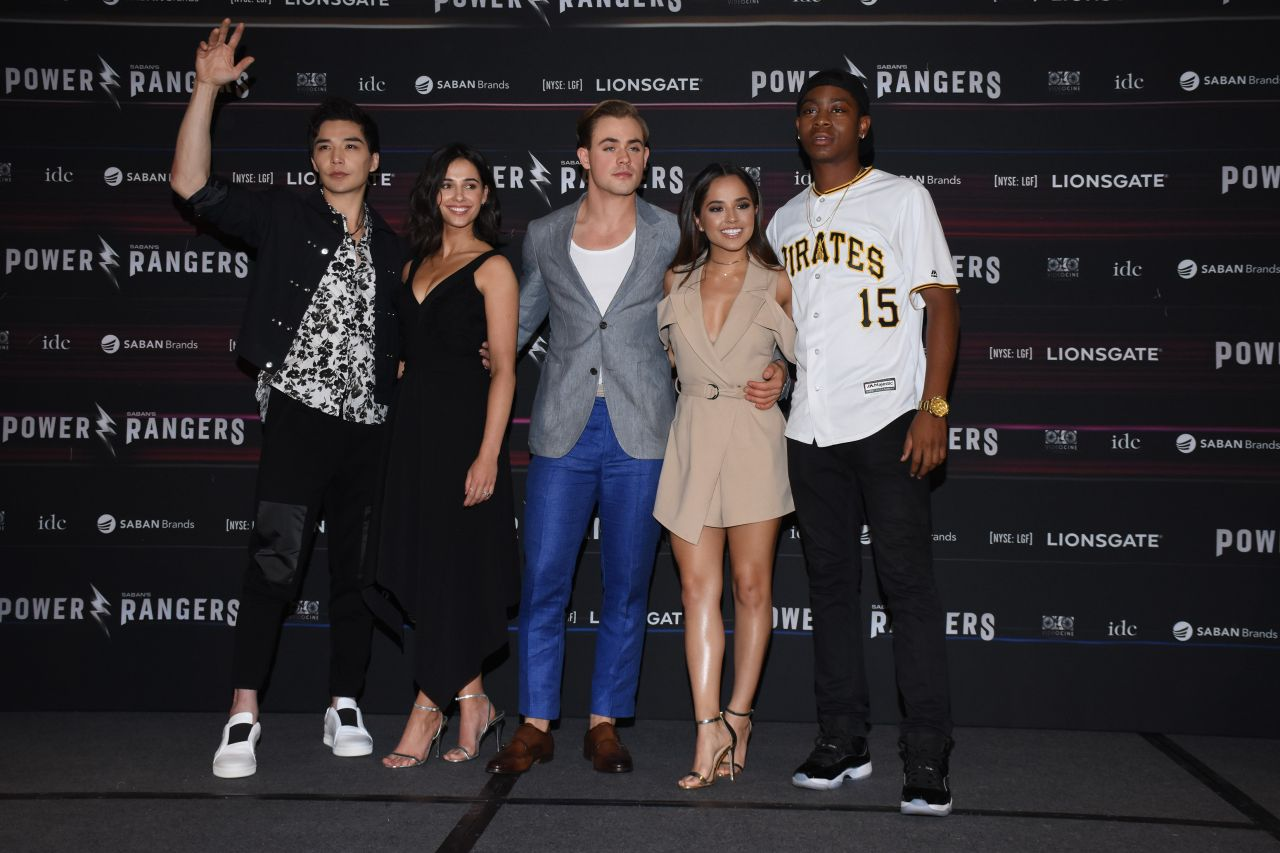 Naomi scott power rangers press conference in mexico city new pictures