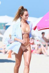 Natalia Borges in Bikini at the Beach in Miami 3/11/ 2017