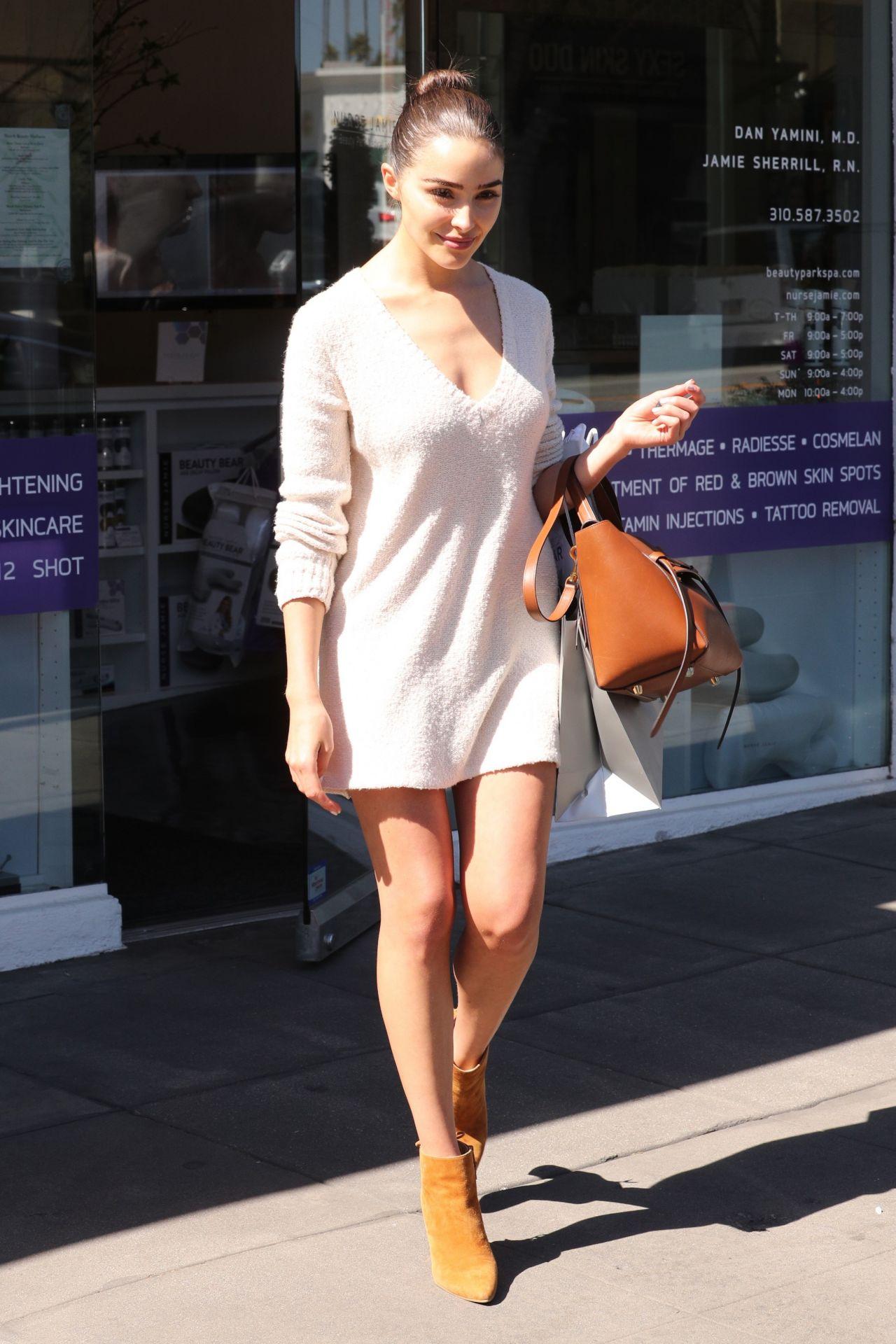 Olivia culpo shows off her legs leaving nurse jaime beauty salon in santa monica