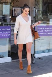 Olivia Culpo Shows Off Her Legs - Leaving Nurse Jaime Beauty Salon in Santa Monica 3/29/2017