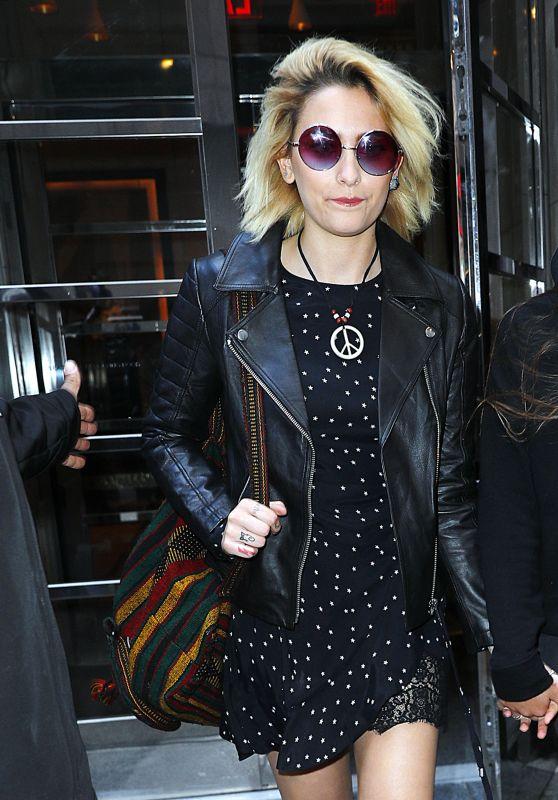 Paris Jackson - Departing Her Hotel in NYC 3/20/ 2017