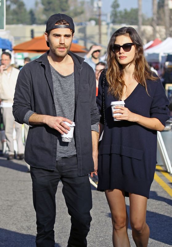 Phoebe Tonkin and Paul Wesley - Stroll Through the Farmer