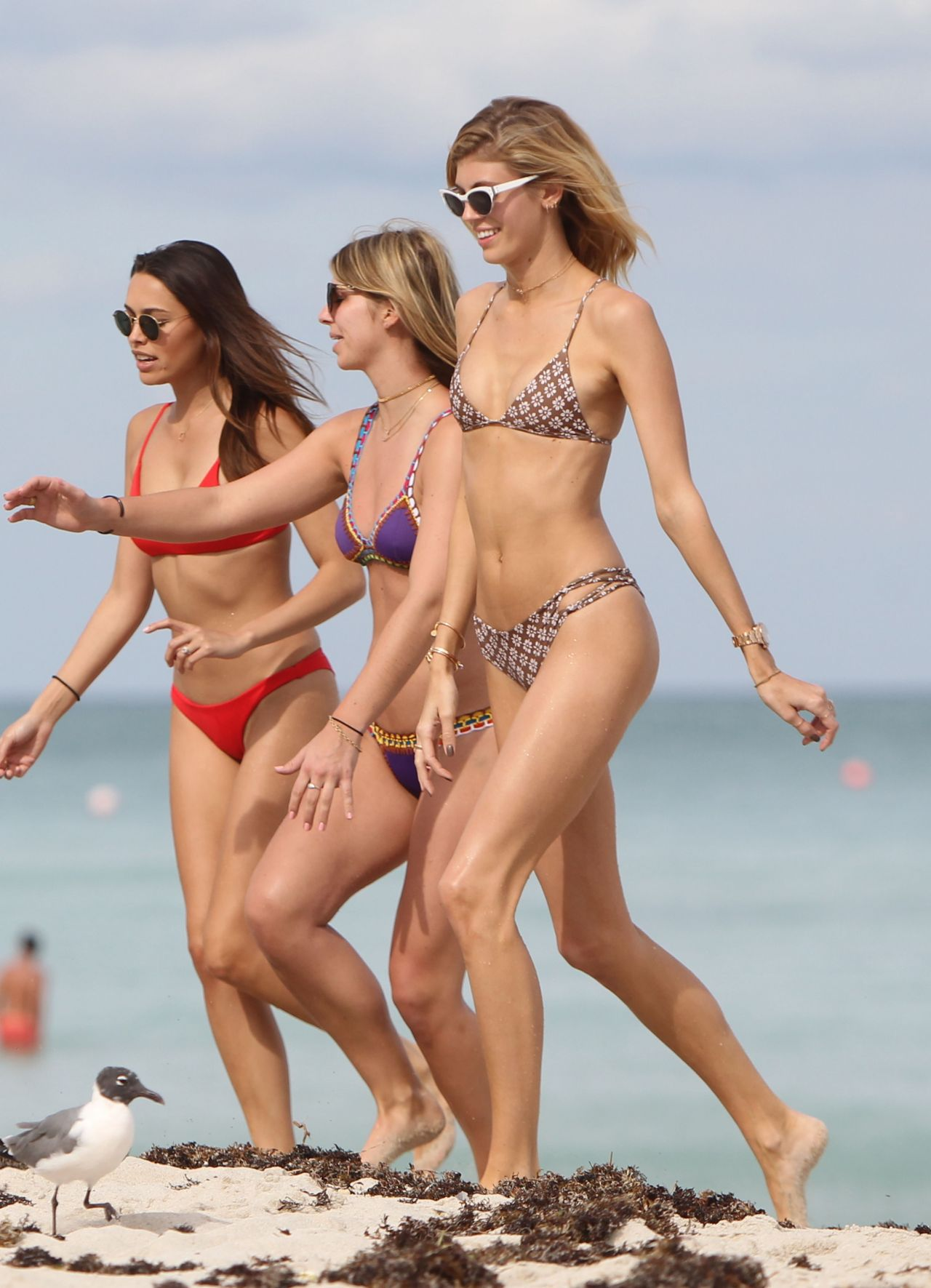 Rachel Hilbert amp Devon Windsor In A Bikini At Miami Beach