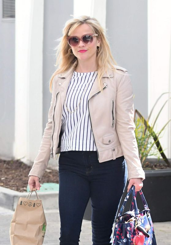 Reese Witherspoon in Casual Attire - Out in Brentwood 3/23/ 2017