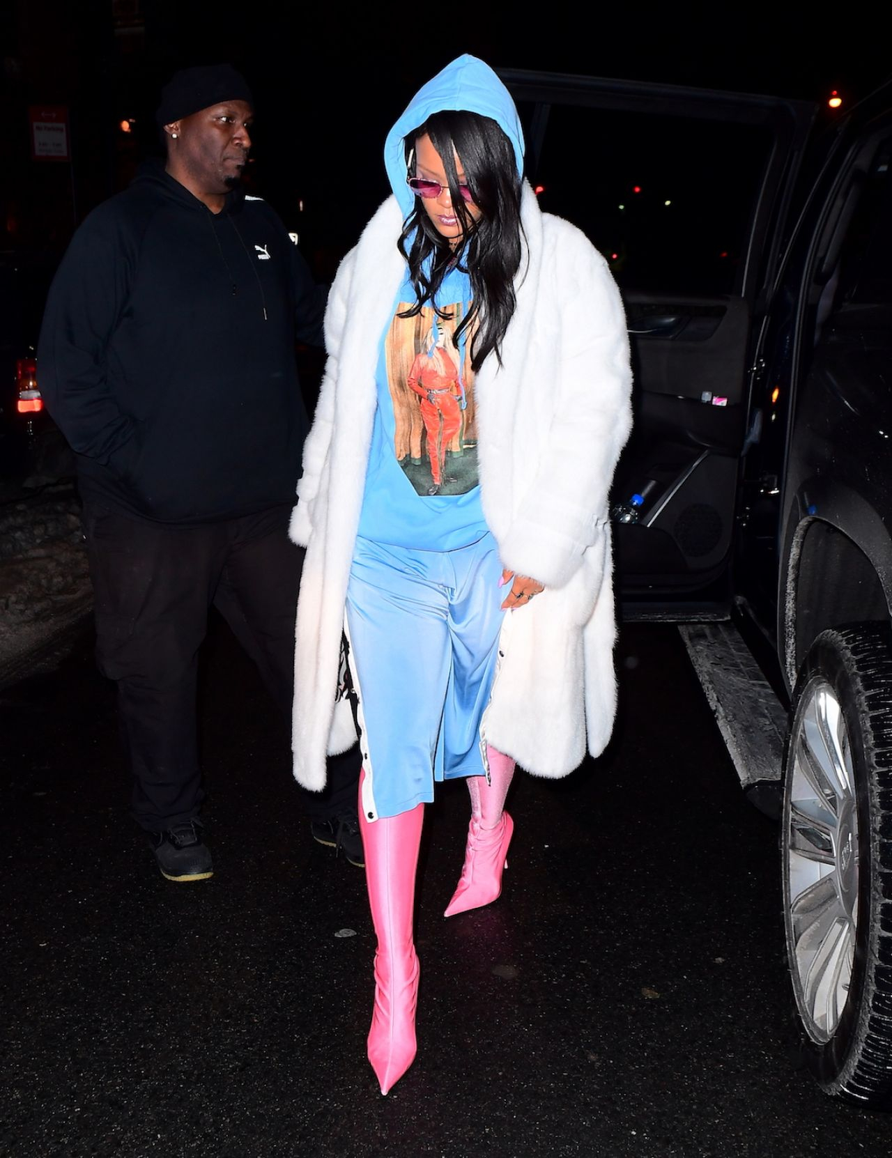 Rihanna Night Out Style - New York 3/16/ 2017