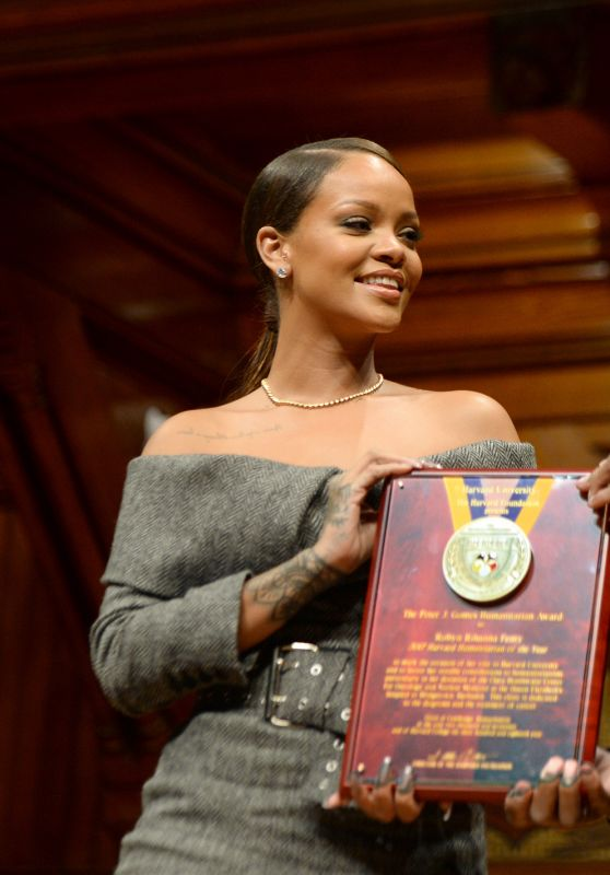Rihanna Receives Harvard Humanitarian Of The Year Award 2/28/ 2017