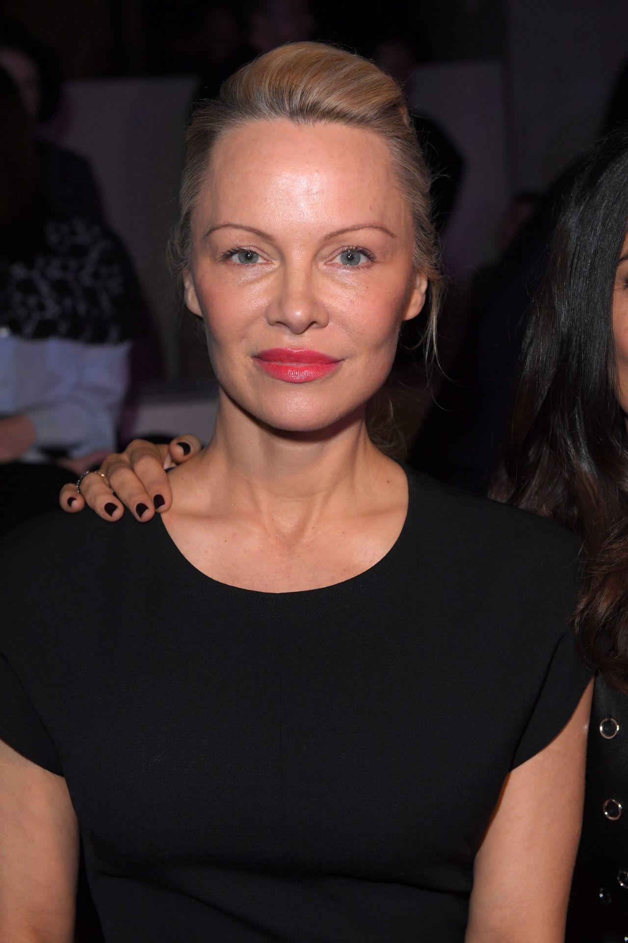 Salma Hayek & Pamela Anderson - Stella McCartney Show at ... Pamela Anderson
