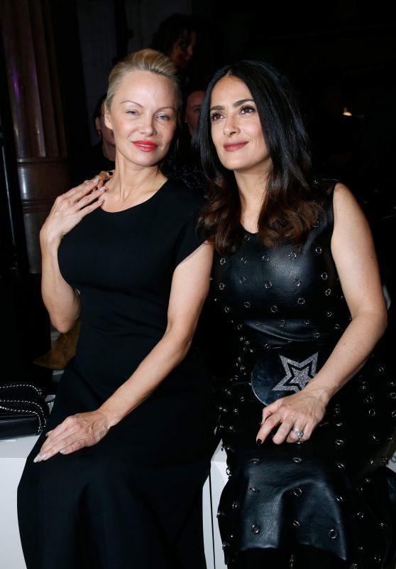 Salma Hayek & Pamela Anderson - Stella McCartney Show at Paris Fashion Week 3/6/ 2017