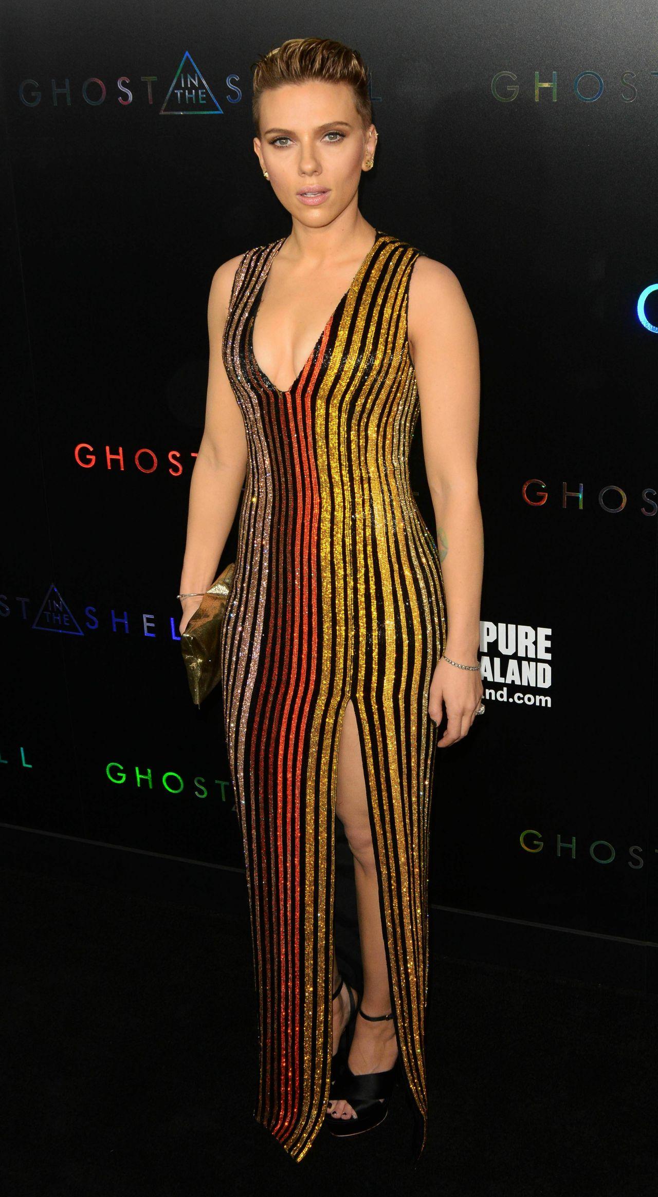 "Scarlett Johansson - ""Ghost In The Shell"" Premiere in NYC ..."