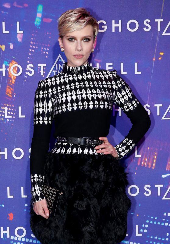 Scarlett Johansson - Ghost in the Shell Premiere in Paris 3/21/ 2017