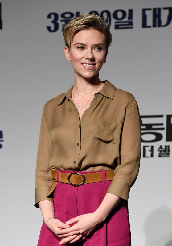 Scarlett Johansson - Ghost In The Shell Press Conference in  Seoul, South Korea 3/17/ 2017