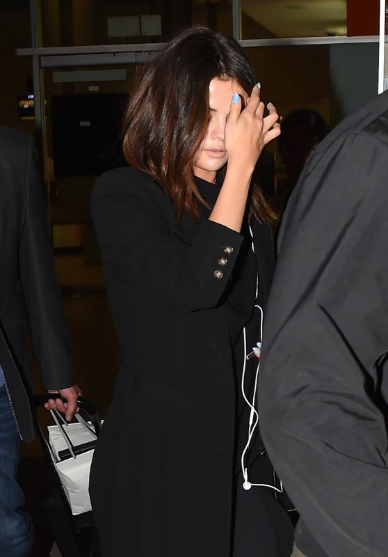 Selena Gomez and The Weeknd at Guarulhos Airport in Sao Paulo 3/25/ 2017