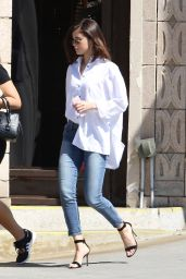Selena Gomez in Casual Attire - Out for Lunch in Los Angeles 3/8/ 2017