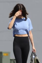 Selena Gomez in Tights - Steps Out For Pilates With Friends, Los Angeles 3/14/ 2017