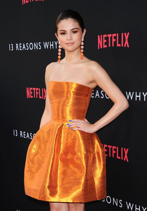 "Selena Gomez on Red Carpet - ""13 Reasons Why"" TV Series Premiere in LA 3/30/2017"