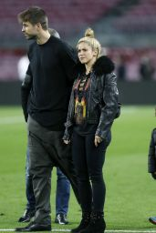 Shakira at Camp Nou Stadium With Her Husband Gerard Pique in Barcelona 3/8/ 2017