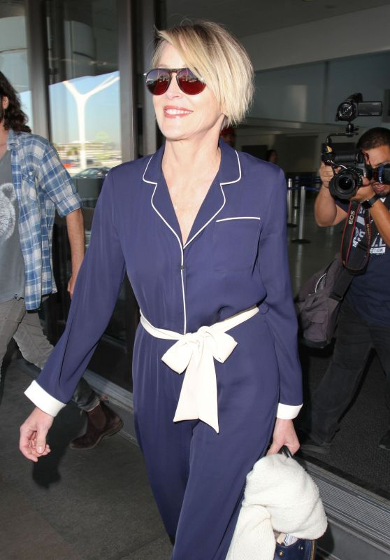 Sharon Stone - Arriving at Los Angeles Airport in Los Angeles 3/22/ 2017