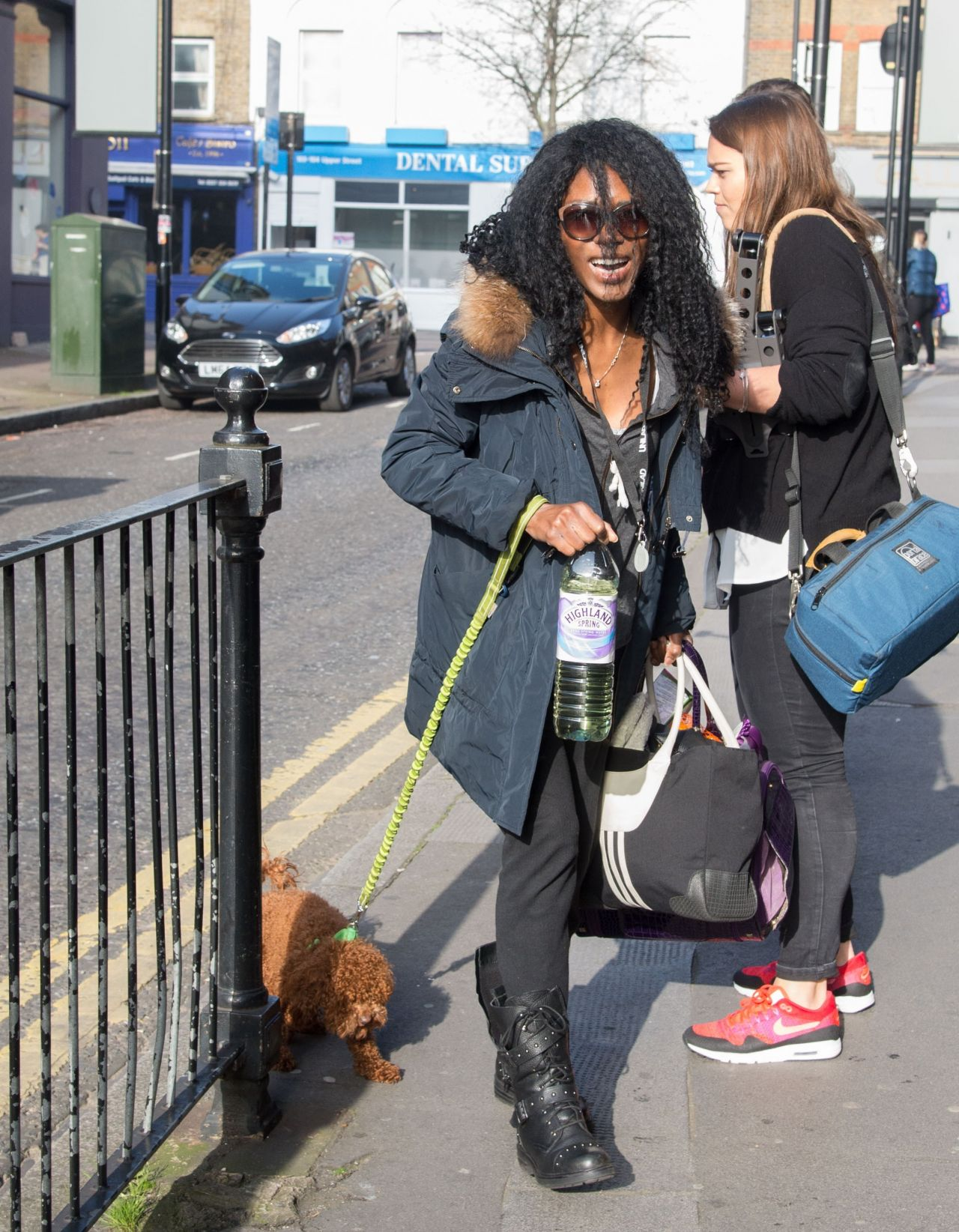 Singer sinitta arrives at recording studio in london