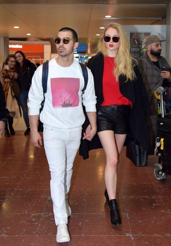 Sophie Turner - Arrives With Her boyfriend Joe Jonas in Paris, France 3/6/ 2017