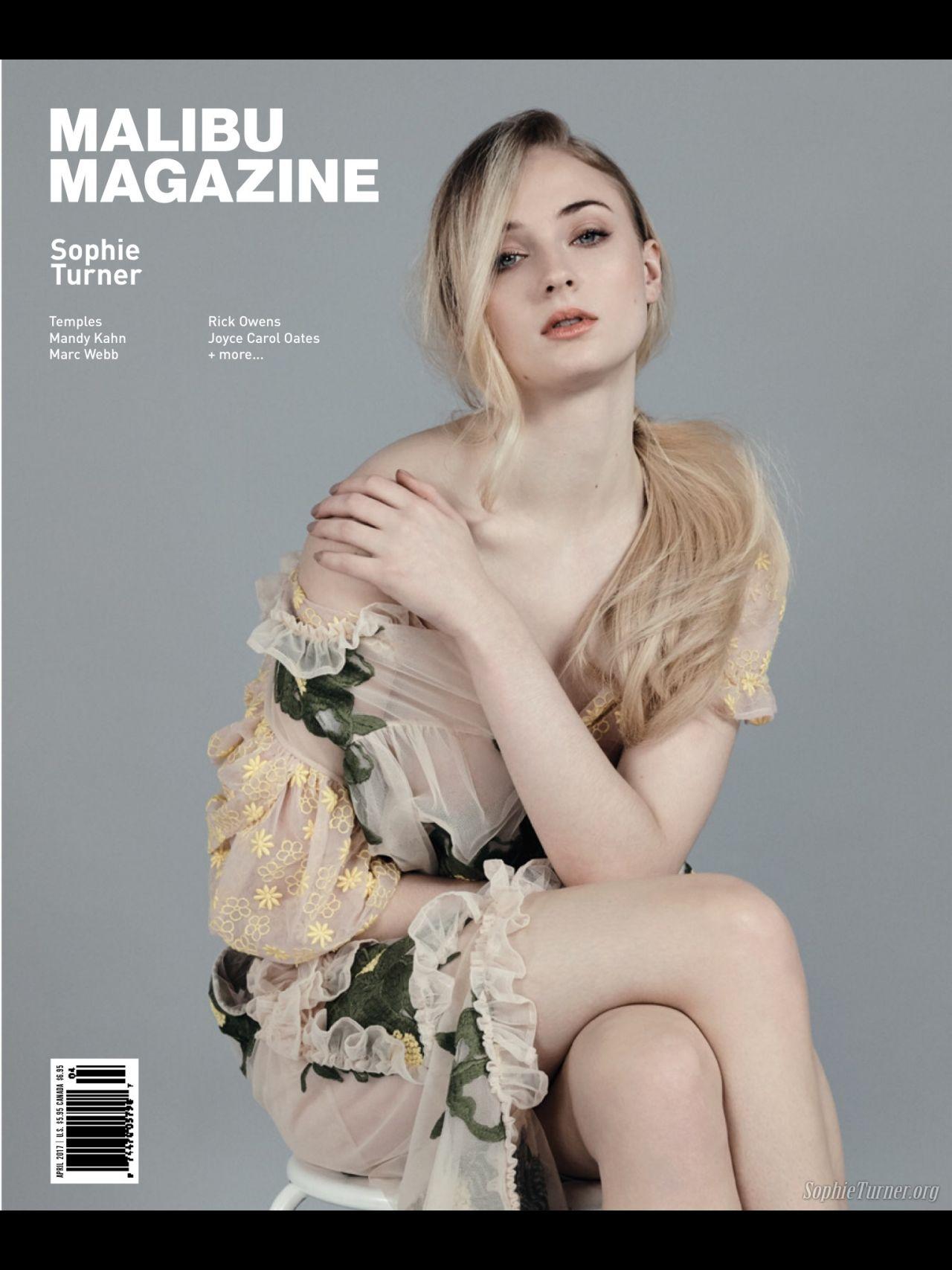 Sophie Turner Malibu Magazine April 2017 Issue