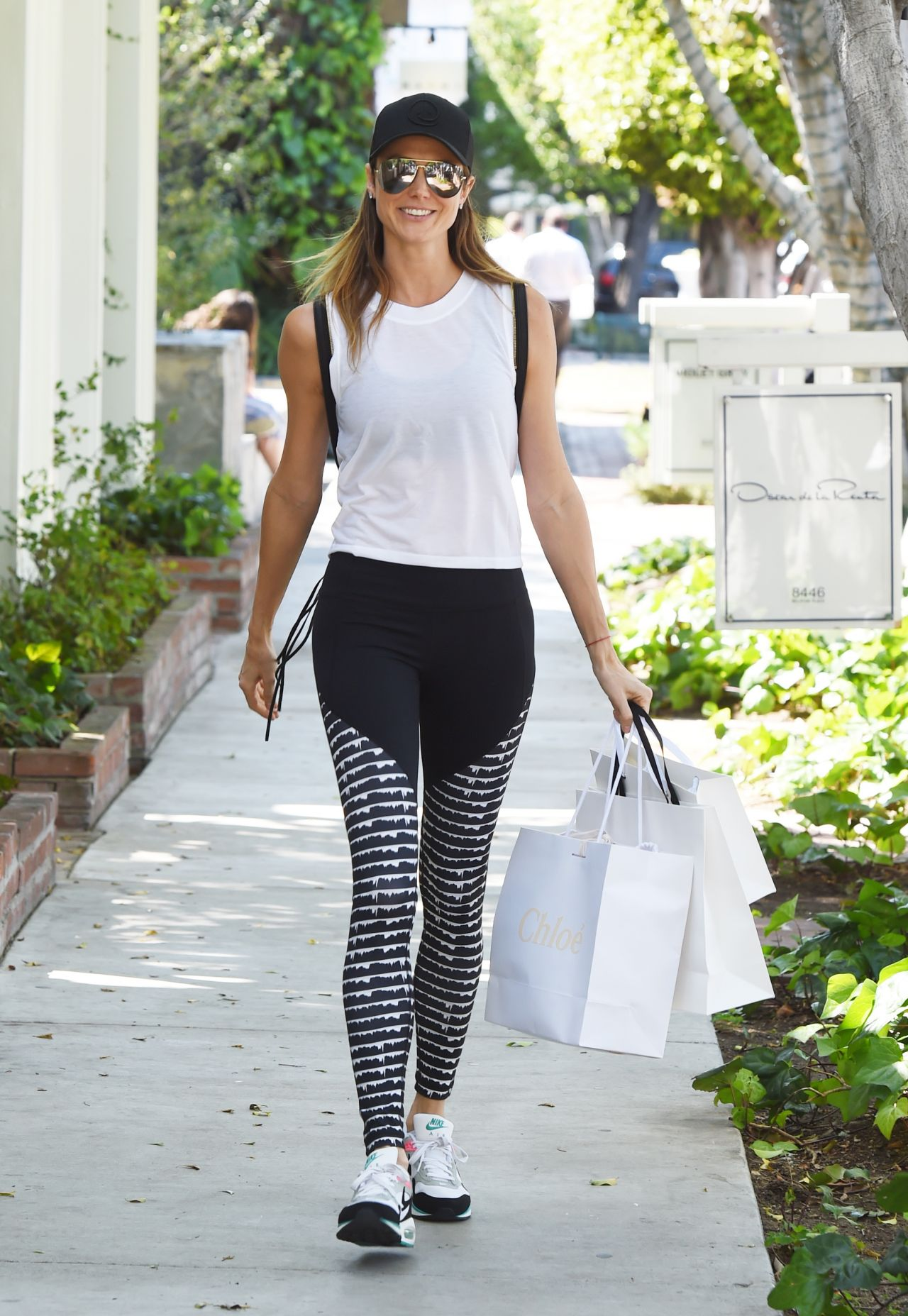 Stacy Keibler Shopping At The Zimmerman Store In Gym