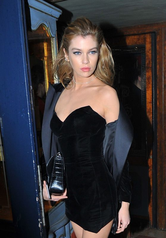 Stella Maxwell Night Out Style - Laperouse Restaurant in Paris 3/7/ 2017
