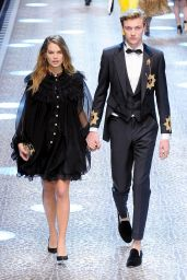 Stormi Bree – Dolce Gabbana Show Runway on Milan fashion Week, February 2017