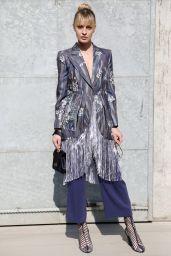 Sveva Alviti at Milan Fashion Week – Armani Show Arrivals 2/27/ 2017