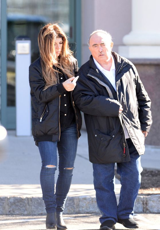 Teresa Giudice With Her Father in New Jersey 3/10/ 2017